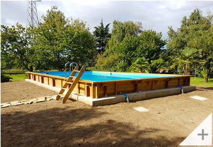 photos clients piscine en bois hors sol