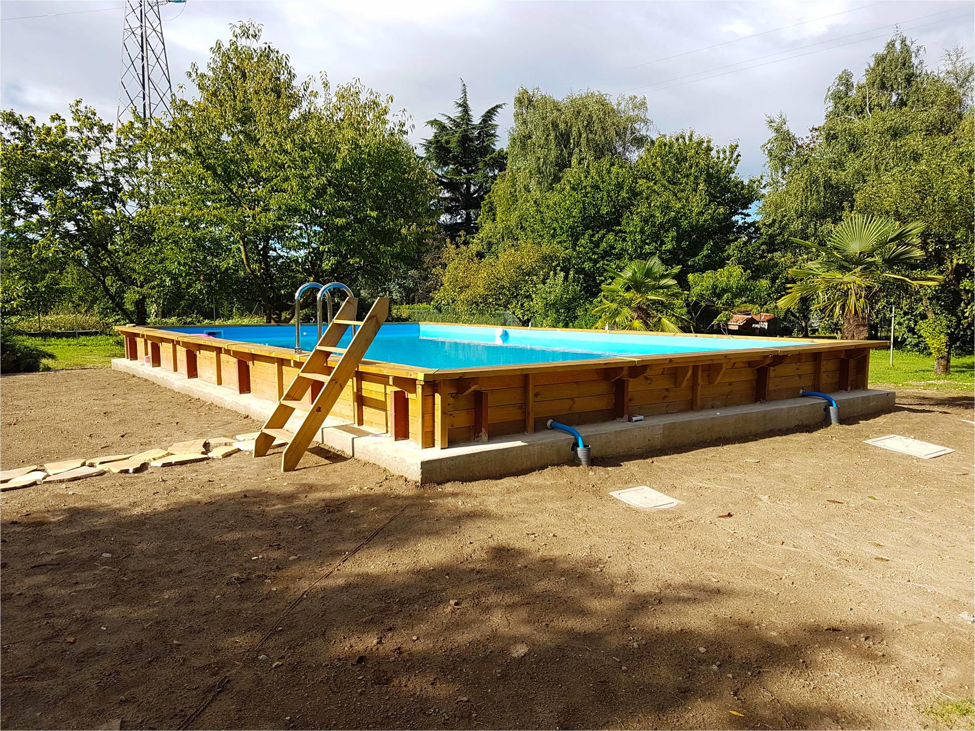 piscine en bois hors sol rectangulaire niagara 6x4