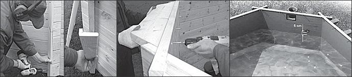 Istruction de montage pour la sauna