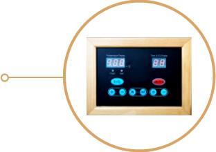 Sauna infrarouge - Panneau de contrôle
