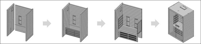 sauna infrarouge montage