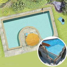 Kit piscine blocs polystyrène GIAVA PLUS 120h
