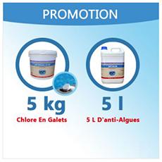 5 Kg De Chlore En Galets De 200 G + 5 L Anti-Algues