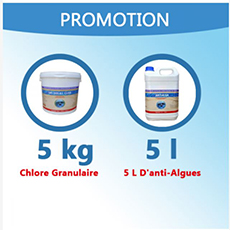 5 Kg De Chlore Multifonction + 5 L D'anti-Algues