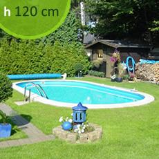 Piscine En Acier Enterrée ovale SKYBLUE Comfort 700 - h. 120 cm