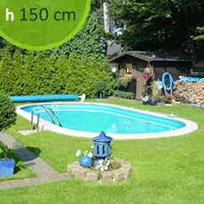 Piscine En Acier Enterrée ovale SKYBLUE Comfort 800 - h. 150 cm