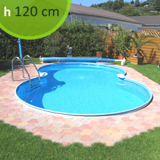 Piscina interrata in kit in acciaio SKYBLUE Space 725 - h. 120 cm
