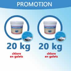 5 Kg de chlore granulaire + 5 L d'anti-algues