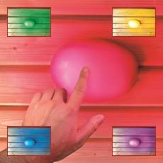 Lampe touch multicolor