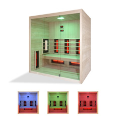 Sauna infrarouge - Aline 4  avec radiateurs infrarouge kit inclus complete