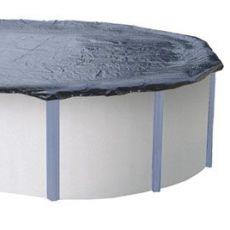 Bâche hivernale en polyester 5,50 x 4,20 m piscine hors sol