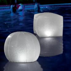 Boule LED Lumineuse Flottante Gonflable Pour Piscine Intex 28694