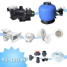 kit de construction piscine 120 mc, Kit d'équipement pour piscine rectangulaire,