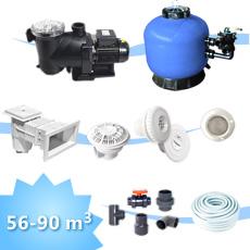 kit de construction piscine 90 mc, Kit d'équipement pour piscine rectangulaire,