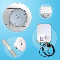 Kit 1 projecteur LED blanc avec transformateur