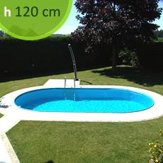 Piscine En Acier Enterrée ovale SKYBLUE Comfort 525 - h. 120 cm