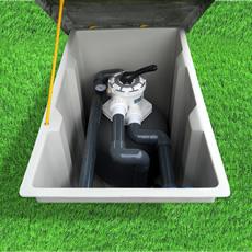 Local technique pour piscines modèle LOIRE