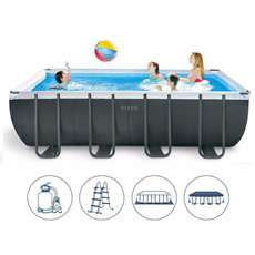 Piscine, ULTRA XTR, rectangulaire, 5.49 X 2.74 X 1.32 M, intex,