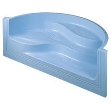 Escalier d'angle Grèce en fibre de verre pour piscine