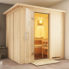 Sauna finlandais Doris  68 mm kit complete