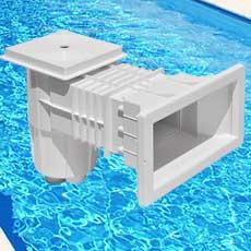 Skimmer en ABS à bouche large compatible béton/liner