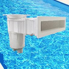 Skimmer à fleur d'eau compatible béton/liner